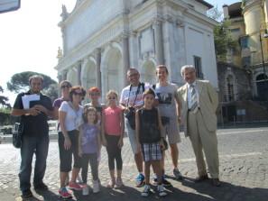 Enrico Luciani e Roberto Calabria con una                                                                                        delegazione dell'Emilia Romagna