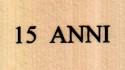 logo 15 anni