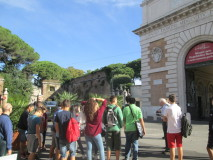 Si spiega Porta San Pancrazio e Villa Savorelli (ora Villa aurelia) Quartier generale di Garibaldi
