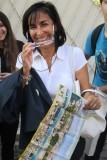 la professoressa Nicoletta Venturini spiega Villa Giraud (il Vascello) come era, grazie alle immagini sul depliant
