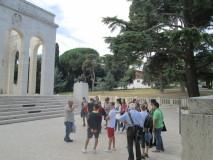 Visita al Mausoleo prima di ritornare a Porta san Pancrazio, ora Museo della repubblica Romana