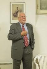 l'intervento del prof. Steven C. Hughes, che si presenta e dichiara di apprezzare moltissimo la storia e i personaggi del libro, un libro che farà conoscere.