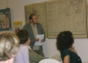 """Roberto Calabria spiega la Mostra """"Roma nel 1849"""""""