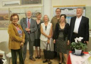 Il gruppo degli  americani in foto ricordo con  Gayle Ridinger e Paolo Pochettino