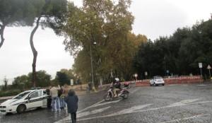 l'interruzione a Piazzale Garibaldi