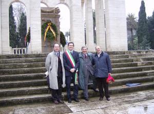 Cipriani - Garibaldi e Masini al mausoleo
