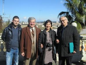 da sinistra: il prof. Marco D'Andrea, Enrico Luciani, la prof.ssa Valeria Di Guardia, Roberto Cerulli
