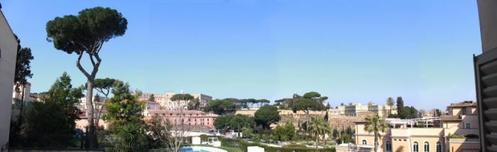 Il panorama oggi  e il campo di battaglia con vista su San Pietro