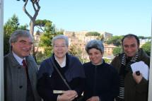 Da sinistra: Enrico Luciani, Suor Giuseppina Titta, Suor Franca, Roberto Calabria