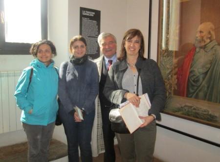 foto ricordo: da sinistra Alessandra Di Cerbo, M. Leonarda Notarangelo, Enrico Luciani, Paola Morille