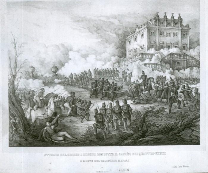 Danesi: Attacco del giorno 3 giugno 1849 sotto il Casino dei Quattro Venti e morte del Colonnello Masina (MCCR)