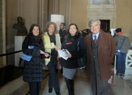 Da sinistra: la prof.ssa Maria Pia Blasi, Noemi Cavicchia Grimaldi, Enrico Luciani, Carmela Geremia