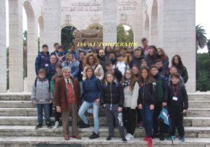 Foto di gruppo al Mausoleo Ossario