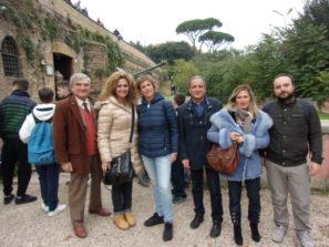 Da sinistra: Enrico Luciani con i proff. Sabrina Pantani, Paola Presentini, Massimo Capoccetti, Cristina Correnti, Alessandro Sacchetti
