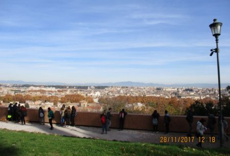 Il panorama di Roma dal Belvedere della Costituzione della Repubblica romana del 1849