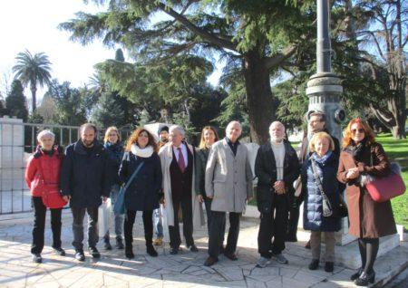 Foto di gruppo al Mausoleo Ossario Gianicolense AI CADUTI PER ROMA (1849-1870)