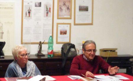 I relatori sul personaggio Filopanti: Ivana Colletta e Massimo Capoccetti