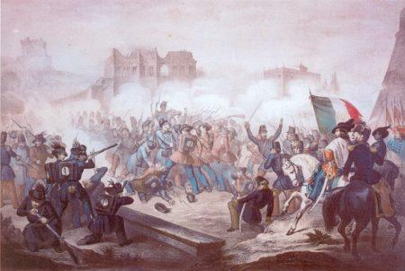 Armanino: Attacco del 30 aprile 1849 Litografia a colori (Museo Centrale Risorgimento Roma)
