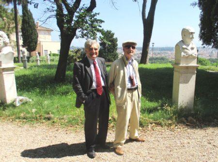 Enrico Luciani e Cesare Balzarro tra i busti