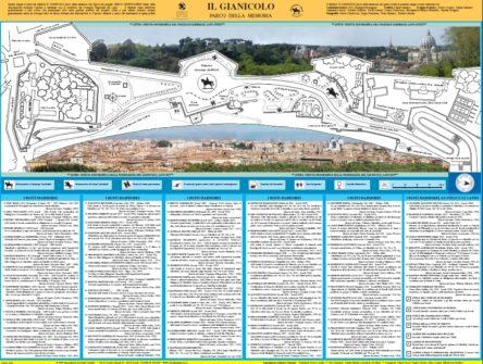 La nostra mappa dei busti e delle stele nel Parco Gianicolense