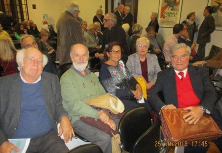 Da sinistra: prof. Giuseppe Barbalace, Mario Savelli, Giovanna De Luca, Ivana Colletta, Enrico Luciani