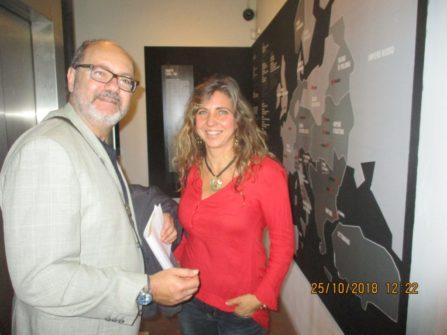 al Museo della Repubblica romana la responsabile dr.ssa Mara Minasi saluta il prof. Paolo Emilio Papò