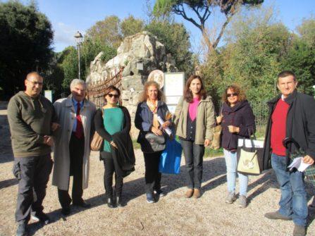Da sinistra i proff. Francesco Labonia, Enrico Luciani, Vincenza Maucieri, Federica Guglielmi, Noemi Grimaldi, Daniela Donghia, Paolo Grillotti