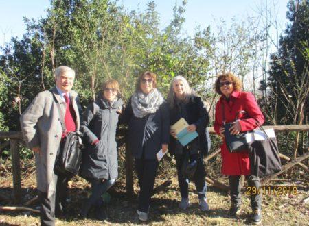 Enrico Luciani e, da sinistra le prof.sse Angelina Rago, Donatella Fiori, Concetta Calabrò, e Daniela Donghia