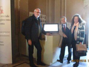 Claudio Bove al sito, con lui Enrico Luciani e Noemi Cavicchia Grimaldi