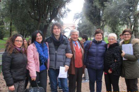 Foto di gruppo, da sinistra: Carmelina Mecca, Ivana Locicero, Alessandro Sgroi, Enrico Luciani, Concetta Cogliandro, Ivana Colletta, Claudia Bellino