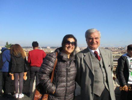 La prof.ssa Splendore Ciampagna ed Enrico Luciani al termine della visita