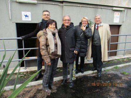 Da sinistra: Giovanna De Luca, Dario Luciani, Massimo Capoccetti, Ines Marisa Pietracci, Enrico Luciani
