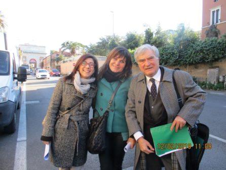 Per la III L, le professoresse Elena Facchin e Caterina Dolce, con Enrico Luciani