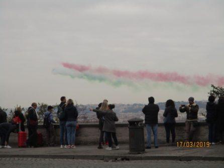 Le frecce tricolori dal Gianicolo