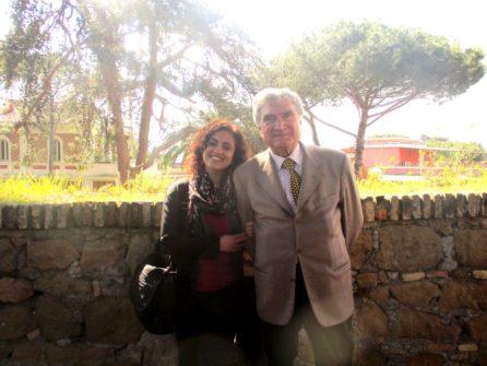 Con la IV D la prof.ssa Rosita Polessi ed Enrico Luciani