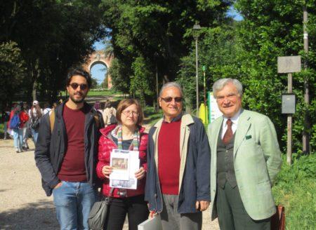 Rocco Pezzullo e la prof. Daniela Forno con Massimo Capoccetti ed Enrico Luciani