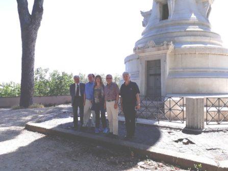 Al Faro degli italiani d'Argentina, dalla sinistra: Enrico Luciani, Corey Brennan, Karina Chechik,  Massimo Capoccetti, Massimo Ghirardini