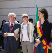 Enrico Luciani con il Municipio XII: la Presidente Silvia Crescimanno, l'Assessore Fabiana Tomassi