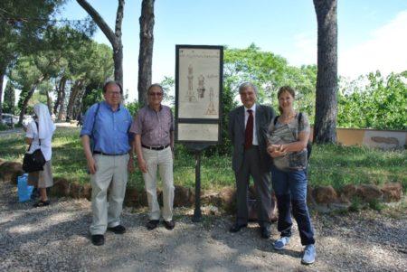 Al pannello illustrativo del FARO, da sinistra: Corey Brennan, Massimo Capoccetti, Enrico Luciani, Karina Chechik
