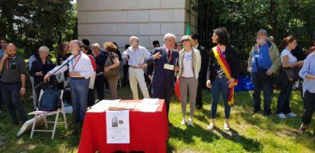 Il Municipio XII tra noi: accanto a Enrico Luciani l'assessore Fabiana Tomassi e il presidente Silvia Crescimanno: sulla destra Antonio Cardellini che farà il racconto della battaglia del 3 giugno