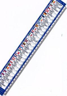 Eccoli gli Stati nell'Unione Europea disegnati su un 33 centimetri