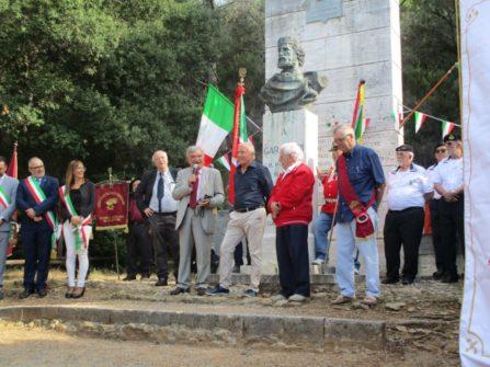 """Parla Enrico Luciani presidente APS A. Cipriani e Comitato Gianicolo, giunto da Roma per onorare la cerimonia del """"salvamento"""""""