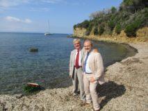 Francesco ed Enrico Luciani presenti alla cerimonia marinara