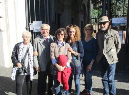 Gruppo al Museo: da sinistra Ivana Colletta, Enrico Luciani e i proff. Marisa Perpetua, Sabrina Pantani, Paola Presentini, Francesco Cefalo