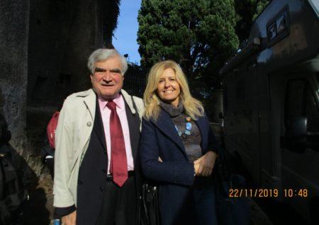 Enrico Luciani con la prof.ssa Monica Gentili