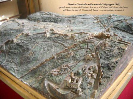 Plastico: GIANICOLO nella notte del 30 giugno 1849