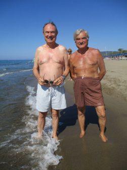 agosto 2020, bagnanti a Riva del Sole - Castiglione della Pescaia