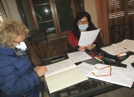 Al lavoro le dirigenti consigliere Ines Pietracci e Giovanna De Luca