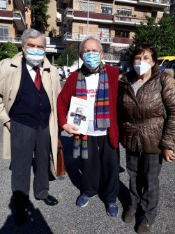 Massimo Tegolini tra Enrico Luciani e Giovanna De Luca