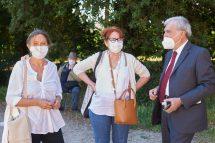 Enrico luciani con le maestre Silvana Focosi e Federica Castracane